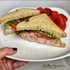 Ham and Swiss on Whole Wheat
